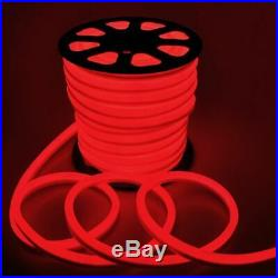 100' LED Neon Rope Light Waterproof Xmas Party Commercial Store Sign Decor Red
