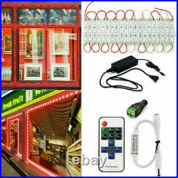 10200FT 5050 SMD Red 3 LED Module Club STORE FRONT Window Light Sign Lamp Kits