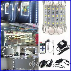 10ft 500ft 5050 SMD 3 LED Bulb Module Lights Store Front Window Sign Lamp White