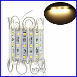 10ft500ft 5050 3 LED Injection Module Lights Store Window Sign Lamp Warm White