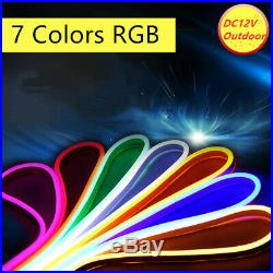 10m DC12V RGB Neon LED Rope Light Flex Tube Store AD Boat Bar Sign Decor Outdoor