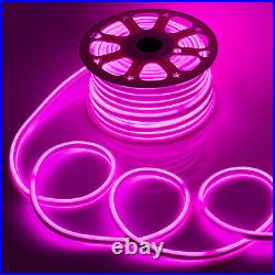 164ft 12V Pink Flex LED Neon Rope Light Strip 2835 SMD Store Sign Logo DIY Decor