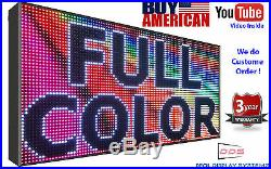 16M COLOR 39X75 10mm WiFi OUTDOOR PROGRAMMABLE Bright VIDEO Store LED SIGN