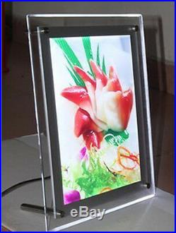 18.75 (W) x 26.5 (H) Slim Crystal Acrylic LED Light Box for Sign Poster Store