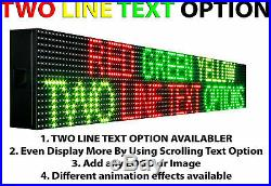 19 x 50 Neon Open Bright Electronic Led Shop Store Sign Scrolling Text Outdoor