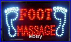 2 pcs Foot Massage / Foot picture LED Neon Sign, Store, SHOP. Business, Window Sign