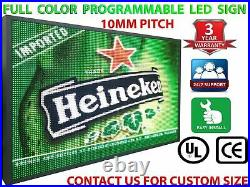 20 X 38 Hd Led Signs Full Color Window Display Billboard Shop Store Open Neon