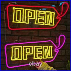 20 x 12 Bright LED Neon Light OPEN Sign + on/off switch UL Power Store Decor