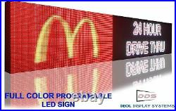 20 x 25 LED SIGNS FULL COLOR BILLBOARDS SHOP STORE BAR DISPLAY WIFI CONNECTION