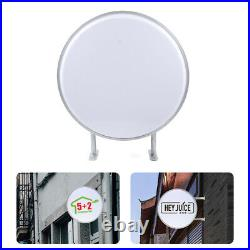 24 LED Double Sided Round Light Box Outdoor Projecting Store Illuminated Sign