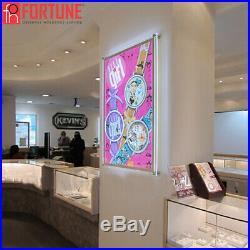 24x36 Movie Poster Led Light box Display Frame Store Advertising Sign Ads Photo