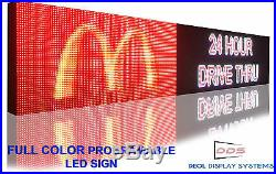 24x62 LED Bright Store Sign 16M Color 10MM Programmable Scroll OUTDOOR board