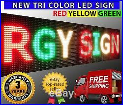 25 x 25 Outdoor Red Yellow Green Tri Color Programmable Shop Store Led Signs