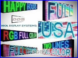 26 x 63 LED SIGNS FULL COLOR DIGITAL PROGRAMMABLE BOARD SHOP STORE DISPLAY