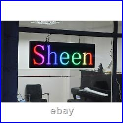 39x14 programmable LED Sign Store Window Display Images USB Drive Wifi Upload