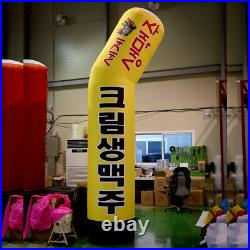 3D Inflatable Sign Yellow square signs that can be used at all stores