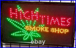 4 pcs High Times Smoke Shop Sign, Business Sign, Store Sign, Window Sign