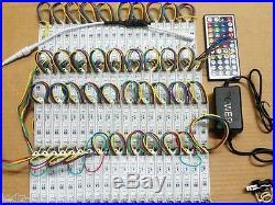 40ft. RGB 5050 LED Module Light 12V Tape 80 Pcs X 3 LED Store Front Window Sign