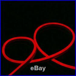 50'-330' Red LED Flex Neon Rope Light Commercial Sign Home Store Decor 110V USA