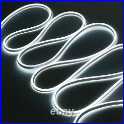 50'-330' White LED Neon Rope Lights Commercial Sign Home Store KTV Decor 110V