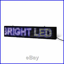 8 x 27 / 39 / 51 Full-color LED Scrolling Sign for Store Windows and Semi-out