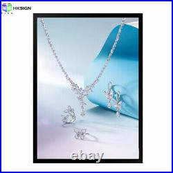 A1 Home Décor Magnetic Jewelry Shop Ads LED Photo Frames For Store Signs Display
