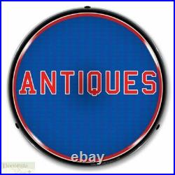 ANTIQUES Sign 14 LED Light Store Business Advertise Made USA Lifetime Warranty