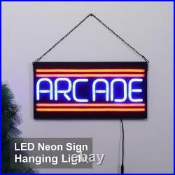 ARCADE LED Neon Sign Light Hanging Bar Party Store Visual Artwork Lamp