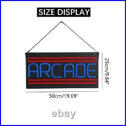 ARCADE LED Neon Sign Light Hanging Bar Party Store Visual Artwork Lamp Deco