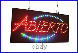 Abierto Sign, Signage, LED Neon Open, Store, Window, Shop, Business, Display