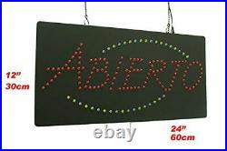 Abierto Sign TOPKING Signage LED Neon Open Store Window Shop Business Display