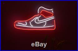 Air Jordan 1 LED Neon Wall Sign Light Pub Bar Store decor Party Display 27x16