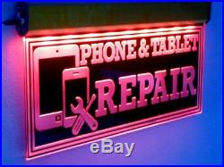 Animated Cell Phone LED Sign Repair Tablet Neon Light Mobile Unlock Store Sign