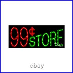 BRAND NEW 99 CENT STORE 27x11 SOLID/ANIMATED LED SIGN withCUSTOM OPTIONS 20129