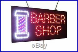 Barber Shop Sign, Signage, LED Neon Open, Store, Window, Shop, Business, Displa