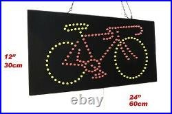 Bicycle Bike Sign Neon Sign LED Open Sign Store Sign Business Sign Window Sign