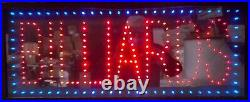 Billiards Led Sign, Window Sign, Business Sign, Store Sign, Game Sign