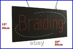 Braiding Sign Neon Sign LED Open Sign Store Sign Business Sign Window Sign