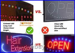 Braiding Sign TOPKING Signage LED Neon Open Store Window Shop Business Displa