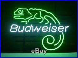Budweiser Lizard Beer Bar Pub Party Store Room Wall Decor LED Neon Sign 19x15