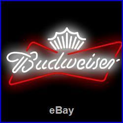 Budweiser Logo Beer Bar Pub Party Homeroom Store Decor LED Neon Sign 19x15