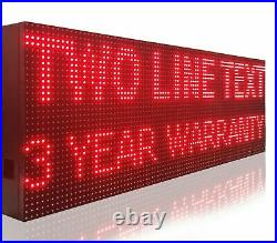 Business Text Board Programmable 12 X 88 Red Color Shop Store Led Signs