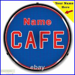 CAFE Sign 14 LED Light Custom Add Your Name Store Advertise USA Warranty New