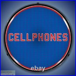 CELLPHONES Sign 14 LED Light Store Business Advertise USA Lifetime Warranty
