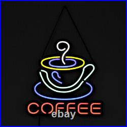 COFFEE LED Neon Sign Light Hanging Store Visual Artwork Lamp Wall Party UK US