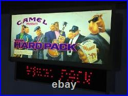 Camel The Hard Pack Lighted LED Store Sign -Rare