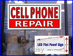 Cell Phone Repair Business store Led flat panel advertising Window Sign 24x48