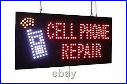 Cell Phone Repair Sign, Signage, LED Neon Open, Store, Window, Shop