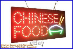 Chinese Food Neon Sign LED Open Sign Store Sign Business Sign Window Sign