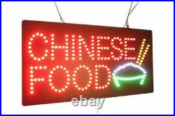 Chinese Food Sign, Signage, LED Neon Open, Store, Window, Shop, Business